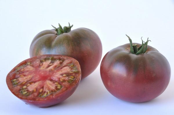 Tomate côtelée noire de Crimée pleine terre