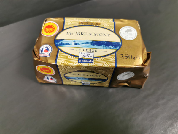 Beurre de baratte d'Isigny AOP 250gr